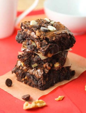 Brownie triple chocolate
