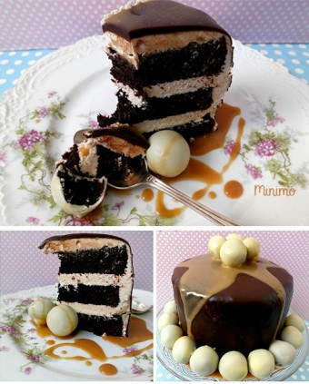 Tarta de chocolate y toffee