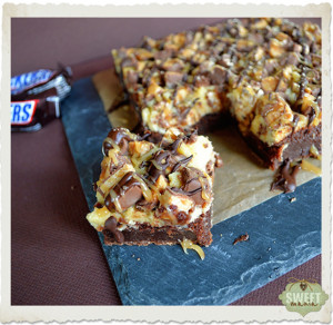 Brownie de cheesecake de Snickers