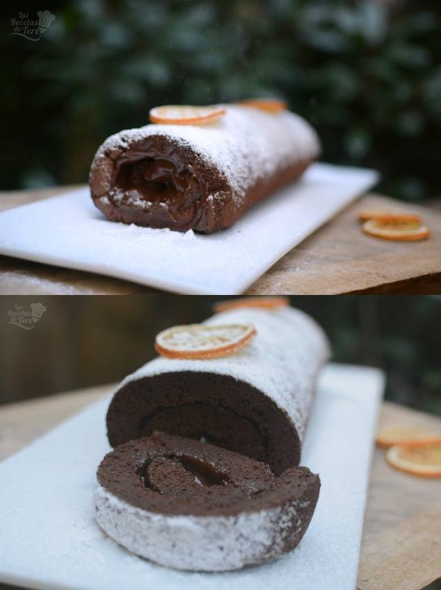 Brazo gitano de chocolate