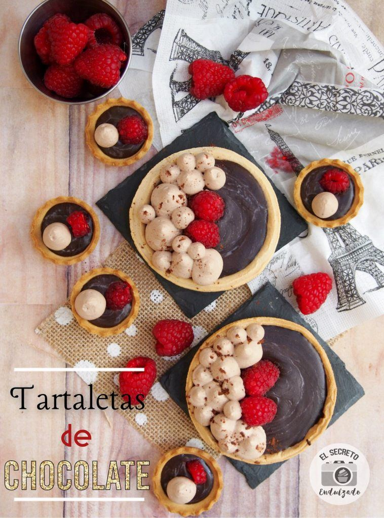 Exquisitas tartaletas de chocolate