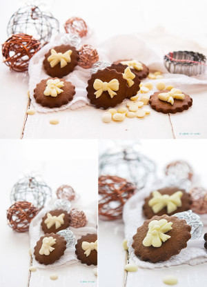 Galletas con especias y chocolate blanco
