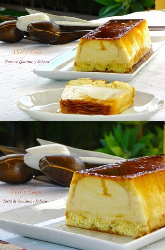 Tarta de quesitos y sobaos